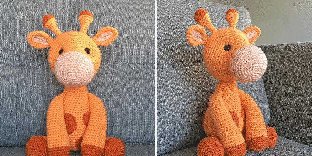 Amigurumi Crochet Giraffe Pattern by Little Bear Crochets | 512x1024