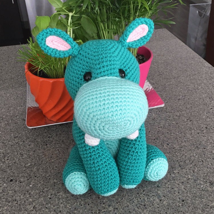 Harriet the Hippo Free Amigurumi Pattern | Jess Huff
