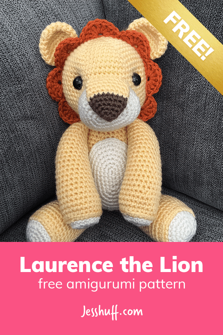 Laurence the Lion Free Amigurumi Pattern