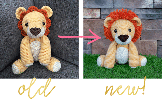 Tiny lion amigurumi pattern - Amigurumi Today | 315x515