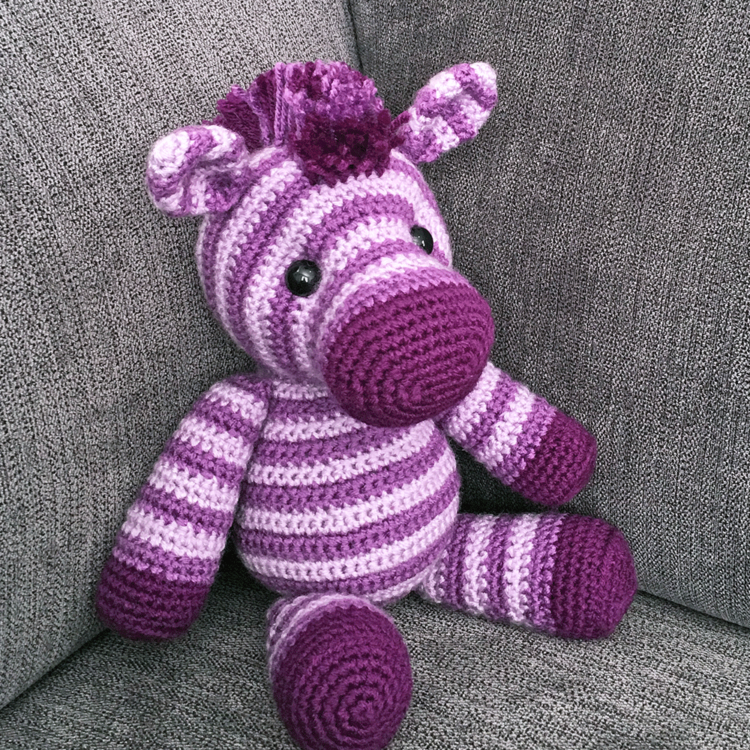 How To Crochet A Cute Toy Zebra - DIY Crafts Tutorial ... | 750x750