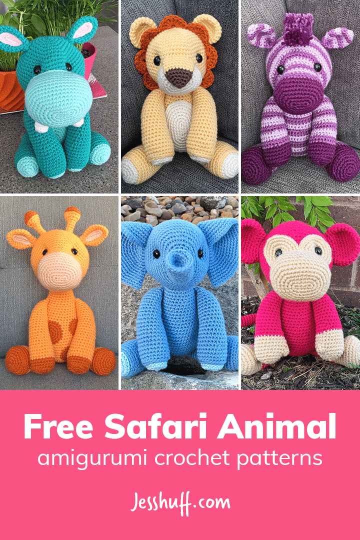 Free Safari Animal Amigurumi Patterns Jess Huff