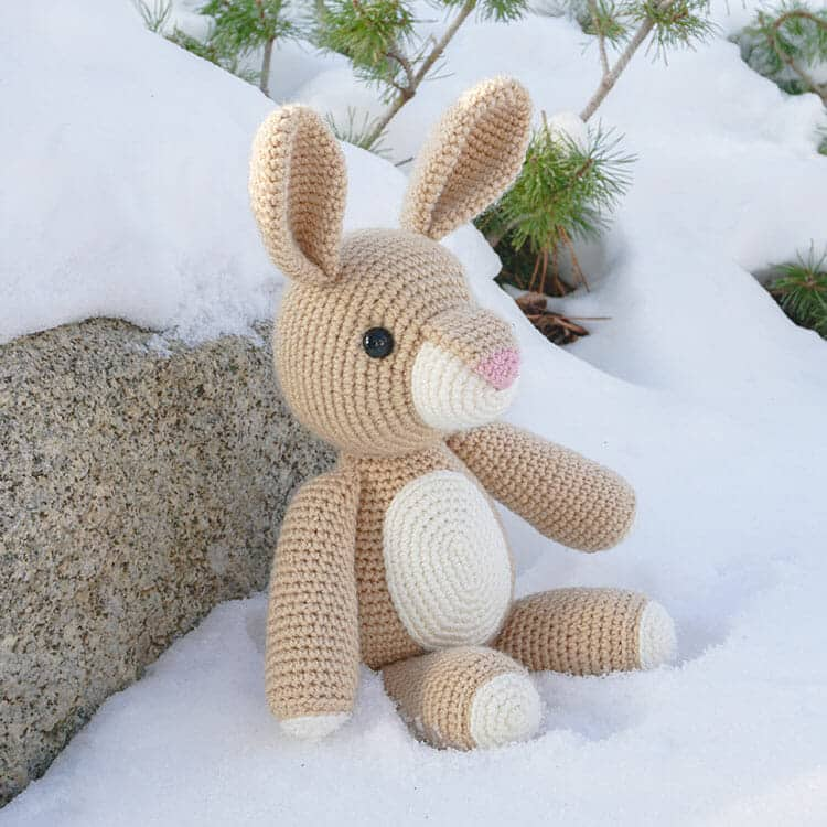 Velvet Bunny Amigurumi Free Crochet Pattern - Crochet For You | 750x750