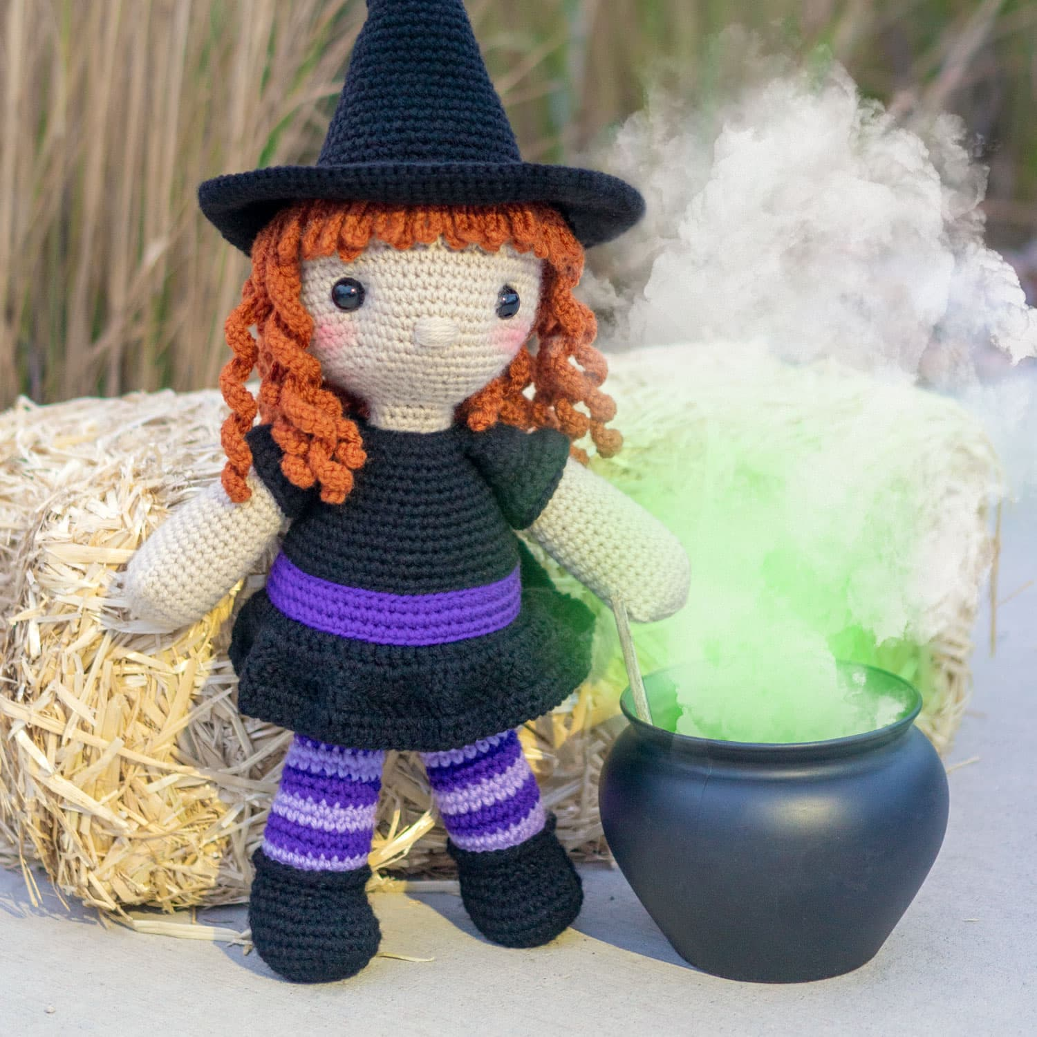 Amigurumi Witch Crochet Pattern for Halloween - Others - doitory ... | 1500x1500