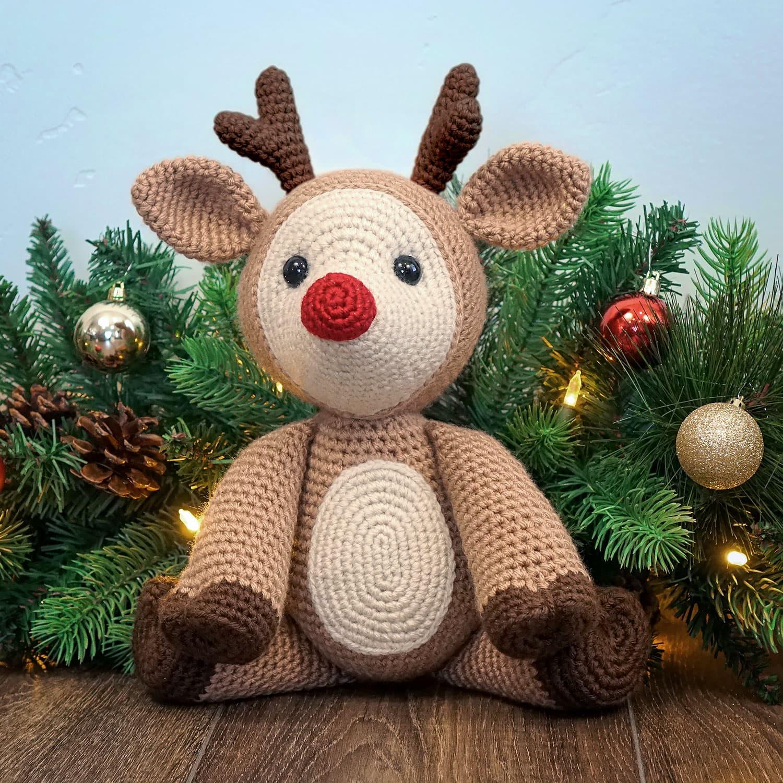 Rudolph the Reindeer Free Amigurumi Pattern