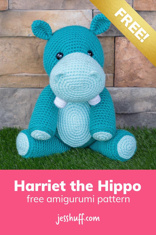 Hippo amigurumi pattern –how cute is this?? I can't believe it's free! via @heyjesshuff