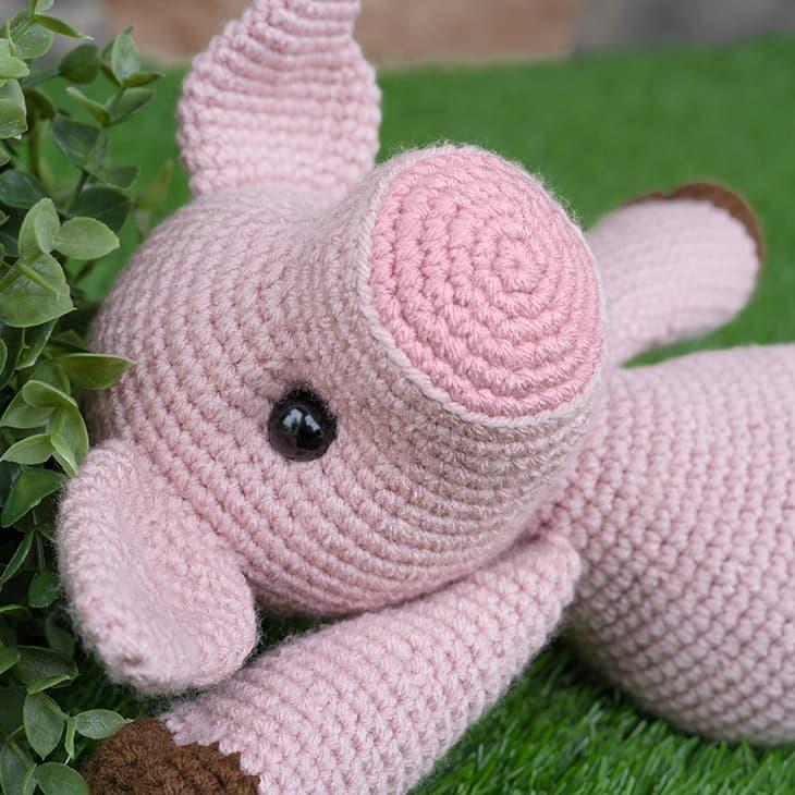 Darker Pink Snout | Crochet Pig