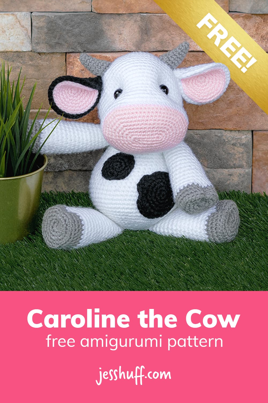 Cow amigurumi pattern –how cute is this?? I can't believe it's free! via @heyjesshuff